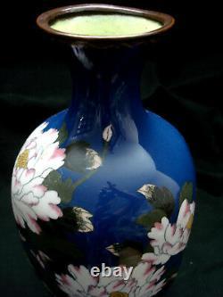 12 Japanese Meiji Period Cloisonne Matching Pair Hexagon Vase