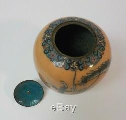 19th C. Japanese Cloisonne Enamel on Bronze 7 Tall 3-Toed Dragon Vase