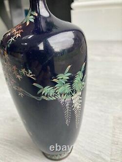 19th C Japanese Meiji Period cloisonné vase