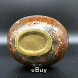 19th C Japanese cloisonne enamel vase