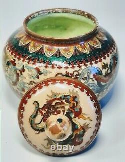 19th Century Japanese Cloisonne Enamel on Bronze Decorative Birds And Dragon Jar