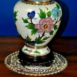 26 Pair Of Chinese Cloisonne Vase Lamps Asian-oriental-porcelain-japanese