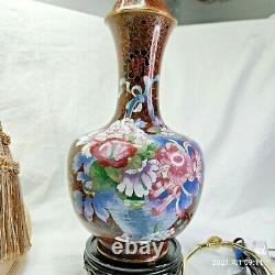 27 Cloisonne Vase Lamp- Porcelain Chinese/japanese Asian Oriental
