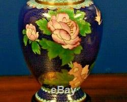 27 Pair Of Chinese Cloisonne Vase Lamps Asian-oriental-porcelain-japanese