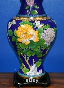 35 Chinese Cloisonne Vase Lamp Butterfly Asian-oriental-porcelain-japanese