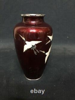 6 1/4 Japanese Ando Cloisonne Vase