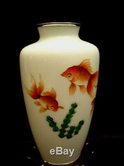 7 1/4 H MARKED Made In Japan JAPANESE SHOWA PERIOD WIRE CLOISONNE VASE