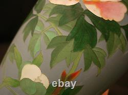 7 H Marked Ando Japanese Silver Wire Cloisonne Vase