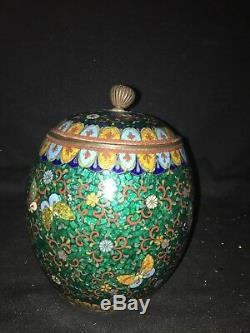 7 japanese Cloisonne Bisquit Jar