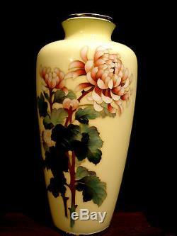 9 1/2 Japanese Showa Period Silver Cloisonne Vase