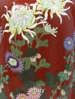 A Big Japanese Antique Wired Enamel Cloisonne Vase