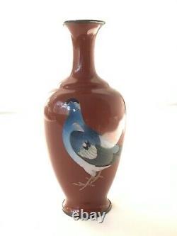 A Museum Quality Japanese Cloisonne vase signed Gonda Hirosuke. Meiji Period