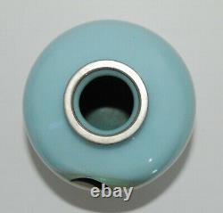 Amusing Japanese Cloisonne Partial Ginbari Vase with an Angelfish PIB