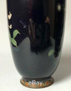 Antique 19th C Meiji Japanese Cloisonne Vases Pair