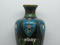 Antique Japanese Cloisonne Enamel on Copper Small Vase