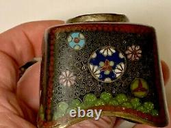 Antique Japanese Cloisonne Inkwell Cover, Circa 1900