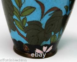 Antique Japanese Cloisonne Pair of 6 Vases