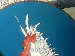 Antique Japanese Cloisonne Plate Cockerel / Rooster