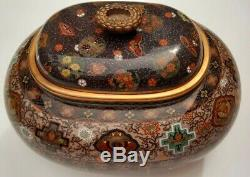 Antique Japanese Cloisonne Vase Koro Attributed To Honda Yosaburo Meiji