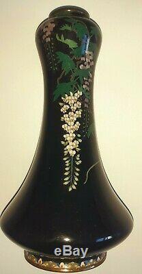 Antique Japanese Cloisonne Vase Meiji Signed