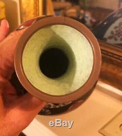 Antique Japanese Meiji Cloisonné Enamel Vase 12