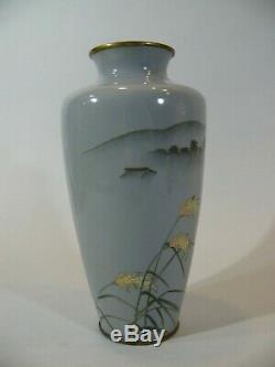 Antique Japanese Meiji Cloisonne Presentation Vase Signed
