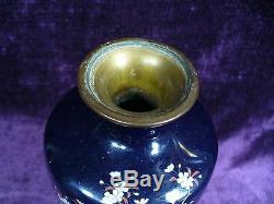 Antique Japanese Meiji cloisonne vase 7.25