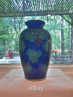 Antique Japanese Plique A Jour Vase 7 Meiji Showa Cloisonné
