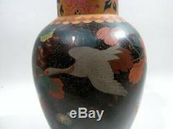 Antique Japanese Totai Shippo Ceramic Cloisonne Vase Porcelain Jippo