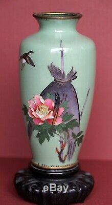 Antique Japanese Vase withHardwood Stand