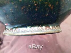 Antique Old Asian Dragon Cloisonne Vase Japanese or Chinese Oriental Art Japan