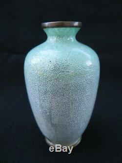 Antique miniature Japanese Ginbari Cloisonne Vase Signed Ota