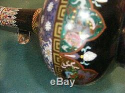 Antiquejapanese Cloisonne Vases Pair Meji Period