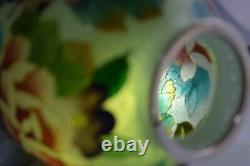 Authentic! Japanese Vintage Plique a Jour Enamel Vase Filled with Flowers 269
