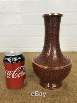 Beautiful Antique Chinese Japanese Copper Cloisonne Bottle Vase 9