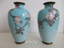Beautiful Meiji Era 19th Century Japanese Cloisonne Vase