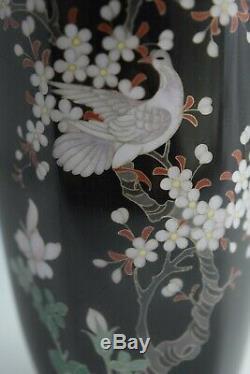 Brilliant Japanese Meiji Silver Wire Cloisonne Vase in Excellent Condition. #116