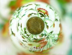C1920 Antique Japanese Shotai Shippo Silver Wire Plique A Jour Cloisonne Vase