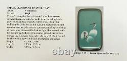 Early Japanese Cloisonne Enamel Minature Tray Of Cranes PIB (Pictured In Book)