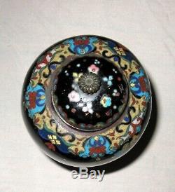 Fine Antique Japanese Cloisonne Enamel Vase with Dragons-Meiji Goldstone
