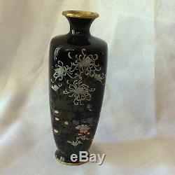 Fine Antique Japanese Cloisonne, Flowers, Iris