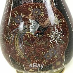 Fine Antique Japanese Meiji Period Cloisonne Vase 10