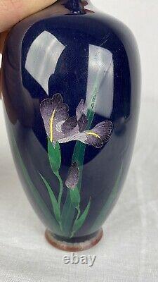 Fine Antique Japanese Meiji Silver Wire Cloisonne Vase