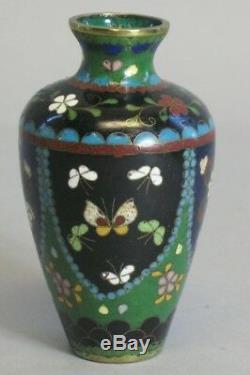 Fine Antique Meiji-era Japanese 3.75 Cloisonne Vase c. 1890