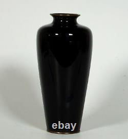 Fine Japanese Meiji Cloisonne Vase Signed Ki or Moku