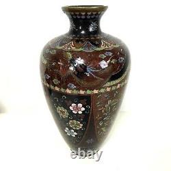 Fine Large Antique Japanese Meiji Period Cloisonne Vase 12