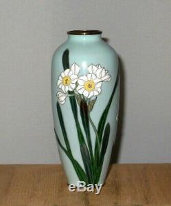 Fine Meiji Period Japanese Cloisonne MORIAGE Enamel Vase, Attributed to Hattori