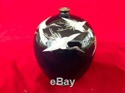 Good Antique Japanese Meji And Enamel Cloisonne Vase. C1890