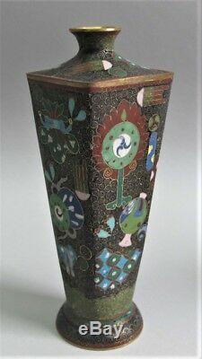 Gorgeous Antique JAPANESE 7.5 Cloisonne Vase Rare Aesthetic Style c. 1920