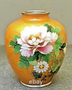Gorgeous Japanese Meiji Basse-taile Cloisonne Vase